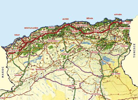 Carte Algerie Autoroute Est Ouest.Route Est Ouest Algerie Carte Mismis